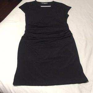 Black knit capped sleeves Jennifer Lopez L dress